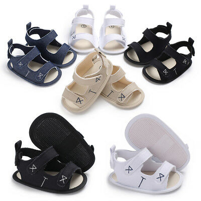 Newborn to 18 M Baby Boy Girl Pram Shoes Infant Summer Sandals Toddler Trainers
