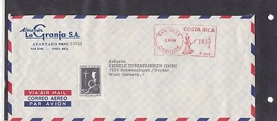 Costa Rica FREISTEMPEL METER 1969 SAN JOSE BRIEF COVER