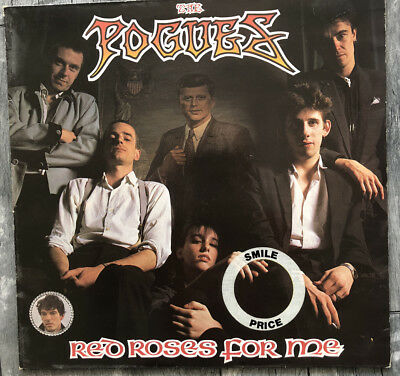 """The Pogues """"Red Roses For Me"""" Helles Türkis 1984 Stiff Records"""