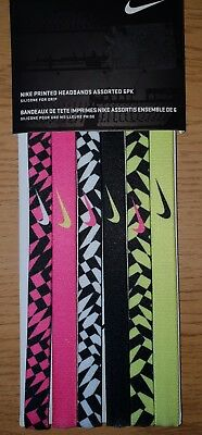 NIKE Printed Headbands Assorted 6 pk / One Size , 6 Colours