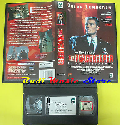 VHS film THE PEACEKEEPER Il pacificatore 1998 DOLPH LUNDGREN RCS (F191*) no dvd
