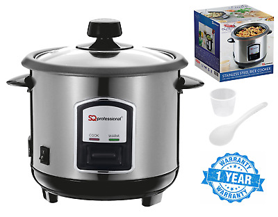0.8L Stainless Steel Non Stick Automatic Electric Rice Cooker Pot Warmer 350W