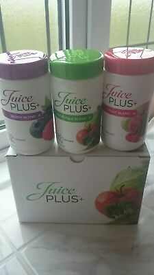Juice plus capsules 3 x 120, Berry, Fruit and Veg, 360 total. bb 2019
