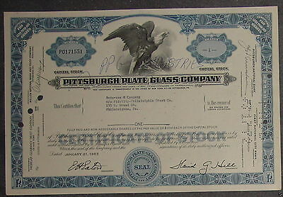 Pittsburgh Plate Glass Company 1963 1 Shares