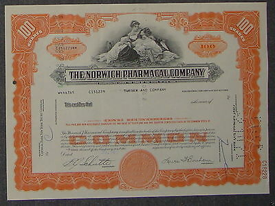 The Norwich Pharmacal Company 1968 100 Shares