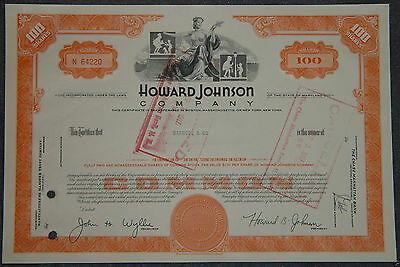 USA: Howard Johnson Company 100 shares