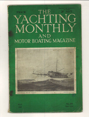 5 YACHTING MONTHLY & MOTOR BOATING Magazines 1935 and 1936