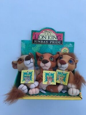 Vintage Disney's The Lion King Simba's Pride plush soft toy set