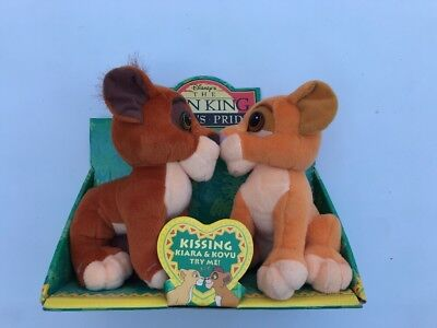 "Rare Disney 1998 The Lion King Simba's Pride Plush Bundle Kovu & Kiara 8"" Mattel"