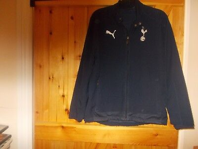 Tottenham Hotspur Mesh Lined Tracksuit Top By Puma Size Large Youth.