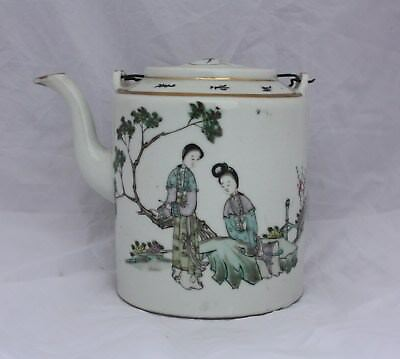 Late 19th Century Chinese Famille Rose Teapot Tongzhi