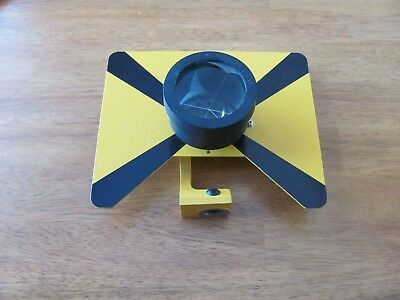 Topcon single prism with adjustable bracket. Made in Japan, with case.