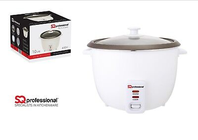 1.8L Non Stick Automatic Electric Rice Cooker Pot Warmer Warm Cook Glass Lid