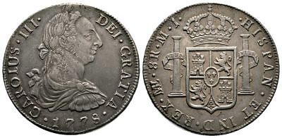 Lanz Peru Lima Charles Iii Bourbon 8 Reales 1778 Spain ^fmg4204