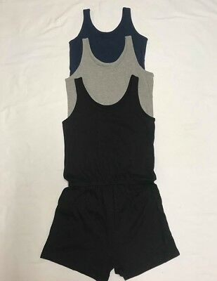 NEW Girls Summer Cotton Jump Playsuit Shorts Vest Set Age 7 - 16 years