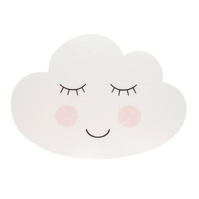 Sass & Belle Sweet Dreams Cloud Placemat Baby Child Plastic White Gender Neutral