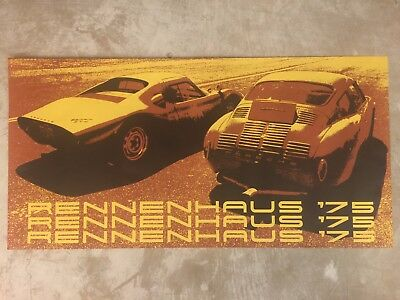 1975 Porsche Rennenhaus Dealership Showroom Advertising Poster RARE!! Awesome