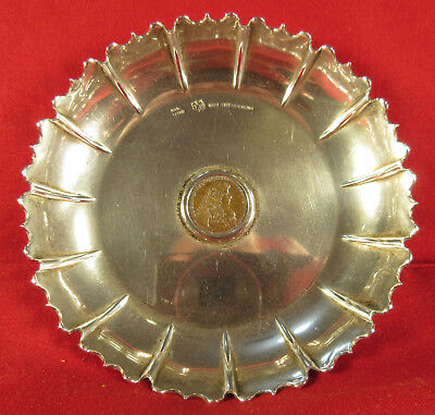 Sterling Silver Candy Dish With Old Coin