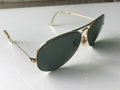 Vintage B&L Ray Ban USA Gold Aviator Sunglasses AS IS