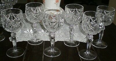 WINE GLASSES CRYSTAL OLD GERMANY LOT of 6