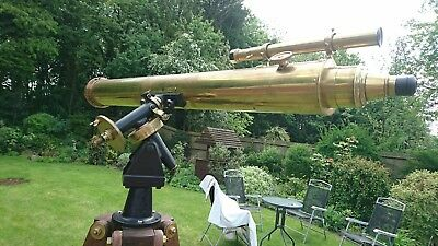 "irving brass telescope 4"" early 1920s"