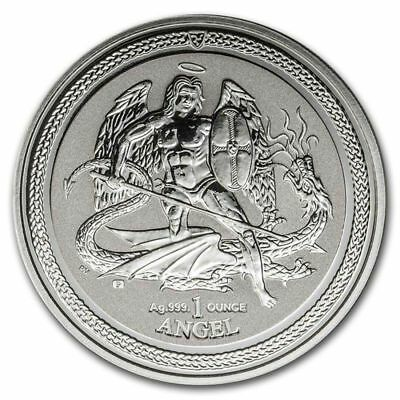1 Angel 2016 Engel Isle of Man Michael - Drachentöter Reverse Proof in Kapsel.