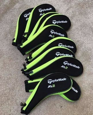 10XGreen Neoprene Taylormade M2 Iron Golf Club Long Zipped Covers HeadCovers