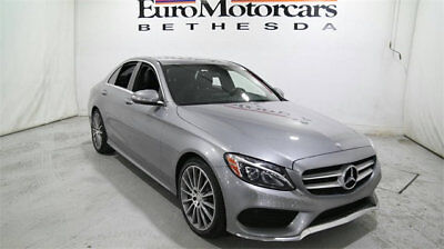 Mercedes-Benz C-Class 4dr Sedan C 300 Sport 4MATIC mercedes benz c300 c 300 4matic silver gray black leather 15 16 used navigation