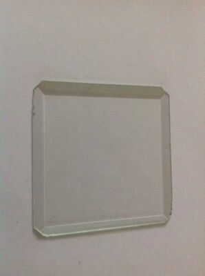Bevelled Clock Glass Square 71mm