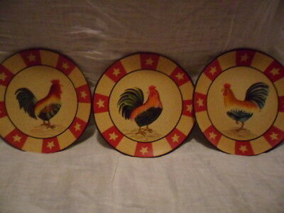 Home Interior Rooster Decorative Plate Lot New In Box
