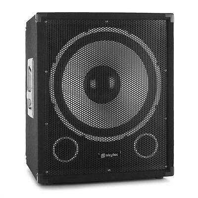 "Pa Subwoofer Skytec Tx15A Bass Lautsprecher Aktiv 500 W Max 15"" 38Cm Box Speaker"