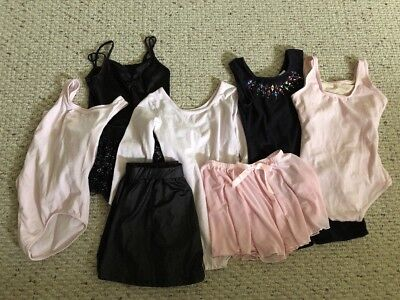 7 pc Lot Girls Dance Clothes Size Child Med 7/8