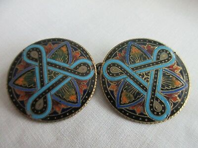 antique,VERY EARLY,stunning,ENAMEL,button,cloak button set,AMAZING BUTTONS!