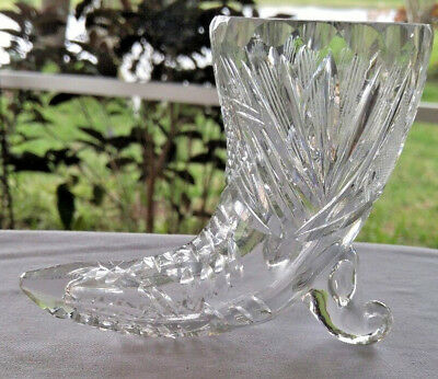 ANTIQUE~VINTAGE ~~CRYSTAL CUT GLASS of CORNUPOIA ~~ HORN of PLENTY
