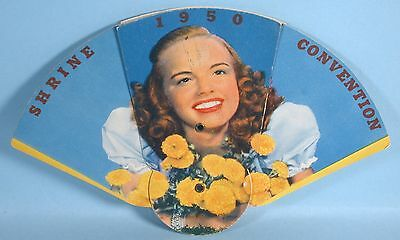 1950 Actress Terry Moore Early Pin-up Photo on Shriner Convention Fan Fraternal