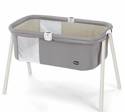 New Chicco Lullago Birch Portable Bassinet Fold Travel Crib + Carry Bag Baby Bed