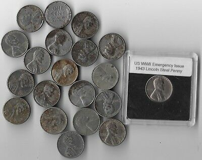 Rare Old WWII US Collection Emergency Cent USA WW2 20 Coin Collectible War Lot