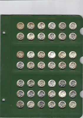 1946-2002 Roosevelt Dime Collection Including Proof Only Issues