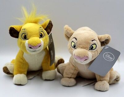 Disney The lion King Plush. Soft Toy. Simba. Nala. With Tags. 18 cm Tall.