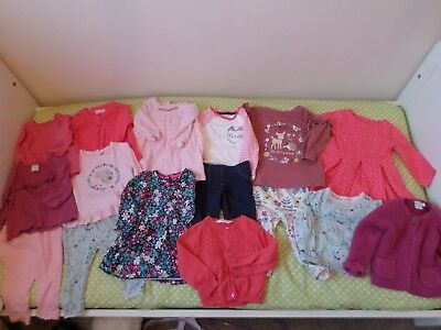 Mothercare / Boots / Next / M&co Baby Girls Tops Dress Outfit Bundle 3-6 Months