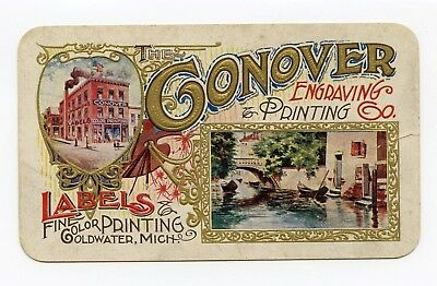 Connor Engraving And Color Printing Trade Card Labels Coldwater Michigan