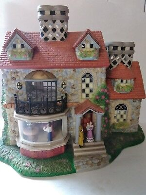 PartyLite Village Olde World  #3 Bristol Tealight House - Excellent Condition