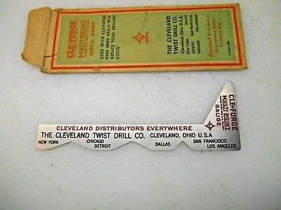 Vtg. Cleveland  Cle- Forge Drill Point Gage
