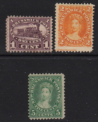 New Brunswick 1860 Issues #6-8  F-VF  CV $97.50+  See*