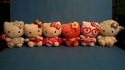 6 Assorted Hello Kitty Plush