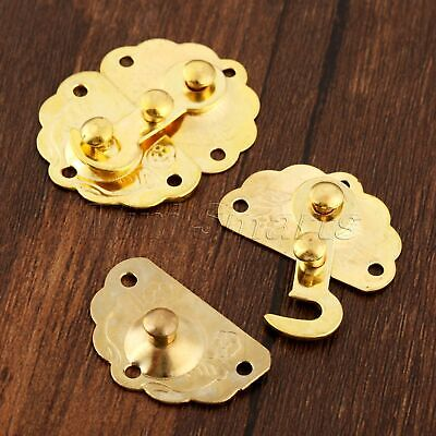 35*45mm Jewelry Box Catch Clasp Hardware Wine Wooden Suitcase Hasp Latch Hook
