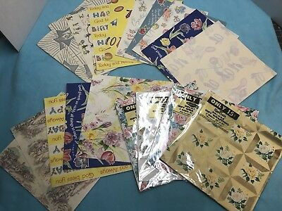 Great Lot Of Vintage Wrapping Paper...LQQK!  #2