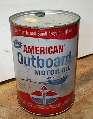 1qt American Outboard  Motor Oil Can
