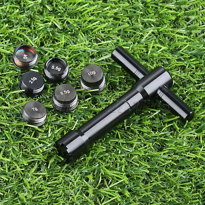 1Set Black Golf Weight For Ping G25 Weights(2.5g+4g+5.5g+7g+8.5g+10g)+1Pc Wrench