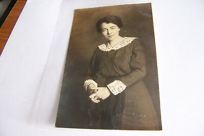 Rare Antique Vintage RPPC Real Photo Postcard Beautiful Woman Fairmont Virginia